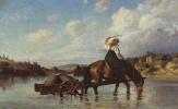 Василий Дмитриевич Поленов. Переправа через реку Оять. С мельницы