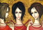 Маргарет Кин. Три девушки в красном