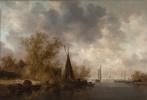 Ян ван Гойен. Речной пейзаж с рыбацкими лодками