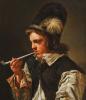 Young Man smoking a Pipe