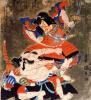 The Kabuki actors Ichikawa, Danjuro VII and Bando, Mitsugoro III