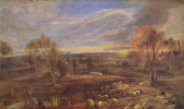Питер Пауль Рубенс. Вечерний пейзаж с пастухом и стадом