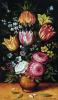 Ваза с тюльпанами и георгинами
