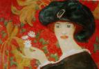 Александр Васильевич Шевченко. «Дама с ромашками». 1909  следы карандаша  Собрание С.Я.Фельдшейна