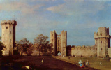 Giovanni Antonio Canal (Canaletto). The inner courtyard of Warwick castle
