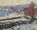 Снежный пейзаж в Крозане