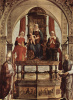 The Altar Portuense. Madonna enthroned and SS. Augustine, Anna, Elizabeth, Peter Damiani