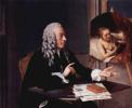 Франсуа Тронхин с картиной Рембрандта