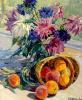 Peaches and dahlias. 1965