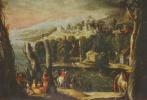 Никколо дель Аббате. Пейзаж с дамами и всадниками