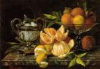 Жан Капейник. Натюрморт с апельсинами и лимонами