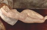 Амедео Модильяни. Лежащая обнаженная, опирающаяся головой на правую руку