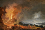 Пьер-Жак Волер Франция. The Eruption Of Mount Vesuvius. 1780 OK