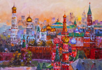 Golden-domed Moscow. JR version