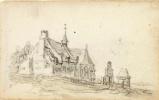 Ян ван Гойен. Дом прокаженных в Клеве