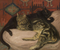 Lying cats
