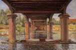Alfred Sisley. Under the bridge at HAMPTON Court