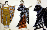"""Lev Samoilovich Bakst (Leon Bakst). The costumes for the tragedy """"aedipes in Colon"""""""