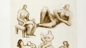 Наброски: Мать и дитя, лежащая фигура