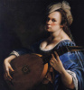 Self portrait with lute