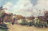 Камиль Писсарро. Вид на Лувесьен