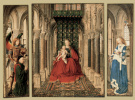 The Dresden triptych. The virgin and child with saints George and Catherine