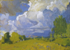 Landscape with storm cloud
