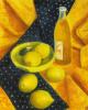 Ваза с лимонами