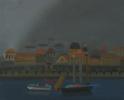 Вид на Котор из окна моей мастерской. Туман 2