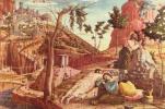 Алтарь церкви Сан Дзено в Вероне, триптих, левая доска пределлы. Христос на Масличной горе