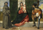Madonna and Child with Saint Anthony of Padua and Saint Roch (co-author with Titian)