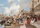 Франсуа Фламенг. Карнавал в Венеции.