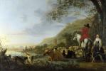 Альберт Якобс Кейп. Холмистый пейзаж с фигурами