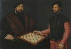 Антонис ван Дасхорст Мор. Курфюрст Иоганн Фридрих Великодушный играет в шахматы с испанским дворянином