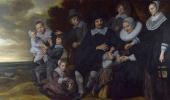Франс Хальс. Семейный групповой портрет на фоне пейзажа