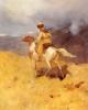 Всадник и горный пейзаж