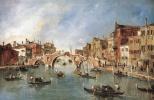 Франческо Гварди. Трехарочный мост в Каннареджио