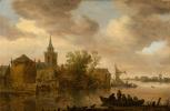 Ян ван Гойен. Вид на реку с церковью и фермами