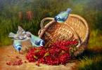 Рябина и синицы