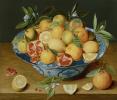 Натюрморт с лимонами, апельсинами и гранатами