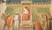 Джотто ди Бондоне. Святой Франциск перед султаном