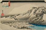 Утагава Хиросигэ. Снежный вечер на горе Хира