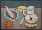Михаил Шемякин. Натюрморт с рыбой. 1970-е Цветная автолитография. Авторский отпечаток.