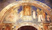 Джотто ди Бондоне. Бог посылает Гавриила к Деве Марии