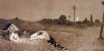 У могилы