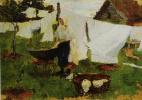 Ольга Людвиговна Делла-Вос-Кардовская. «Прачка» Между 1905 и 1907