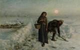 Жюль Бретон. На дороге в зимний период