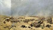 Хивинский поход 1873 года. Переход Туркестанского отряда через мертвые пески к колодцам Адам-Крылган
