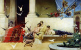 Вильгельм Александрович Котарбинский. Кормление голубей (вариант-повтор картины из дворца Александра III)