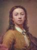 Self portrait in red cloak